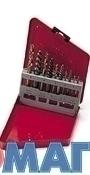 """Набор экстракторов и сверел для откручивания сломанных болтов от 3/32"""" до 3/8""""(2.5-10мм) в металлической коробке"""