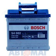 Аккумулятор BOSCH S4 Silver 552 400 047 (0092S40020) - 52 А/ч 470 А