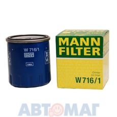 Фильтр масляный MANN W 716/1
