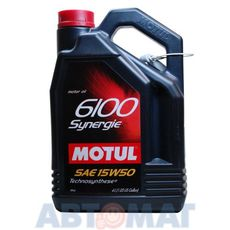 Масло моторное Motul 6100 Synergie 15w50 4л полусинтетическое