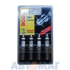 Комплект свечей зажигания BOSCH SUPER-4 WR78X (4шт)