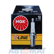 Комплект свечей зажигания NGK V-Line №18 BP6H (4шт)
