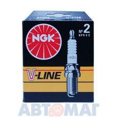Комплект свечей зажигания NGK V-Line №2 BPR6E (4шт)