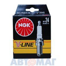 Комплект свечей зажигания NGK V-Line №24 BKUR6ET-10 (4шт)