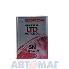 Масло моторное Honda Ultra LTD SN/GF-5 5w30 4л полусинтетическое