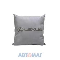 Подушка декоративная LEXUS (серая) (иск.замша)