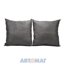 Подушка декоративная HONDA (т.серая) (иск.замша) (к-т 2шт)
