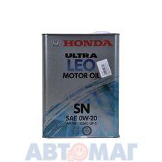 Масло моторное Honda Ultra LEO SN 0w20 4л синтетическое
