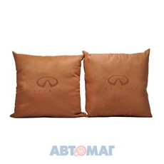 Подушка декоративная INFINITI (оранжевая) (иск.замша) (к-т 2шт)