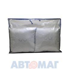 Подушка декоративная INFINITI (серая) (иск.замша) (к-т 2шт)