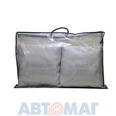 Подушка декоративная SUZUKI (серая) (иск.замша) (к-т2шт)