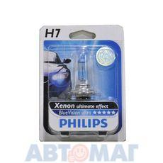 Автолампа PHILIPS Blue Vision Ultimate H7 55W 12V 12972