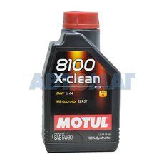 Масло моторное Motul 8100 X-Clean C3 5w30 1л синтетическое