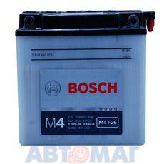 Аккумулятор мото BOSCH 509 015 008 - 9 A/ч 80 А (136*76*140) 12N9-3B