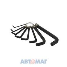 Ключи шестигранные на кольце, 8 шт. 2-10 мм