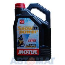 Масло моторное Motul Snowpower 4T 0w40 4л синтетическое