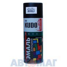 Эмаль алкидная универсальная черная матовая аэрозоль KUDO 520мл
