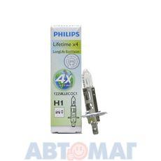 Автолампа PHILIPS LongLife EcoVision H1 12V 55W 12258