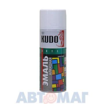 Эмаль алкидная универсальная белая глянцевая аэрозоль KUDO 520мл