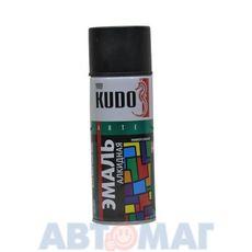 Эмаль алкидная универсальная черная глянцевая аэрозоль KUDO 520мл