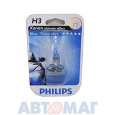 Автолампа PHILIPS BlueVision Ultra H3 55W 12V 12336