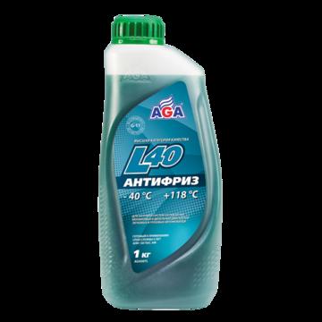 Тосол готовый к применению AGA L40 сине-зеленый -40, 946 мл