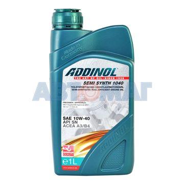 Масло моторное ADDINOL Semi Synth 1040 10w40 1л полусинтетическое