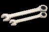 Набор ключей комбинированных трещоточных 10 шт., холдер