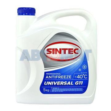 Антифриз готовый к применению Sintec UNIVERSAL G11 5 кг синий