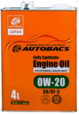 Mасло моторное AUTOBACS Engine Oil FS 0w20 SN/GF-5 4л синтетическое