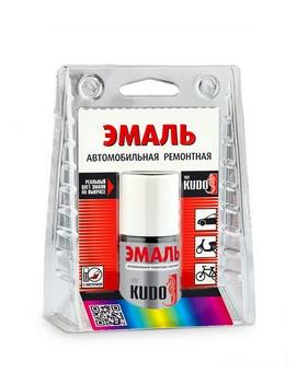 """KU-73350 Эмаль автомобильная номерная (металлик) с кисточкой """"KIA 1K Black"""" алкидная (15мл)"""