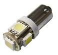 Лампа светодиодная LEDO T4W BA9S 12V 5-SMD (белый)