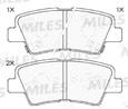 Колодки тормозные дисковые задние E410062 Miles