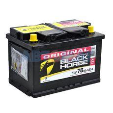 Аккумулятор BLACK HORSE - 75А/ч 680А +L