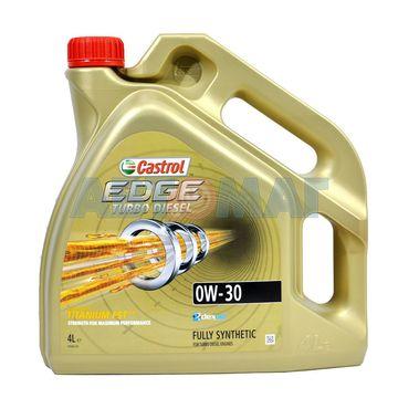 Масло моторное Castrol EDGE Turbo Diesel 0w30 4л синтетическое