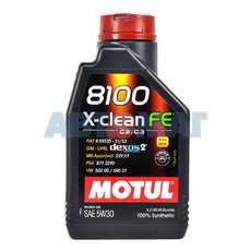 Масло моторное Motul 8100 X-Clean FE 5w30 1л синтетическое