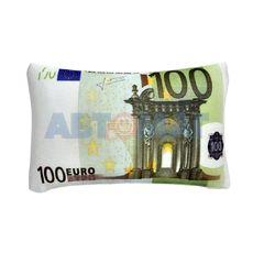 Подушка декоративная АНТИСТРЕСС - Купюра 100 Евро