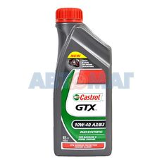 Масло моторное Castrol GTX 10w40 A3/B3 1л полусинтетическое