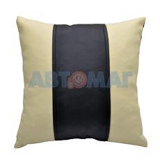Подушка под спину черно-бежевая