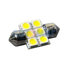 Светодиод C5W 12V 6-SMD 31мм открытый белый LEDO