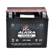 Аккумулятор мото ALASKA YTX12-BS 10 А/ч