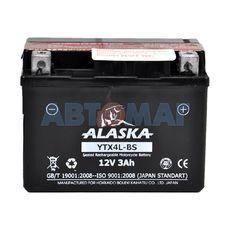 Аккумулятор мото ALASKA YTX4L-BS - 3 А/ч