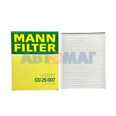 Фильтр салонный MANN CU 25 007 Ford C-Max II, Grand C-Max 10-, Focus III 11-, Kuga II 13-