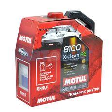 Масло моторное Motul 8100 X-Clean FE 5w30 4л синтетическое + фильтр в подарок Mahle OC205