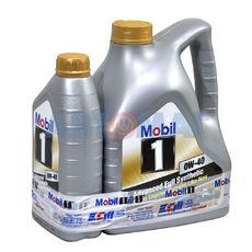 Масло моторное Mobil 1 0w40 4л+1л синтетическое