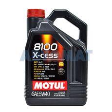 Масло моторное Motul 8100 X-cess 5w40 4л синтетическое