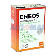Масло моторное Eneos Super Gasoline SM 5w30 4л синтетическое
