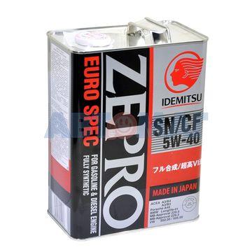 Масло моторное IDEMITSU Zepro Euro Spec 5w40 SN/CF 4л синтетическое