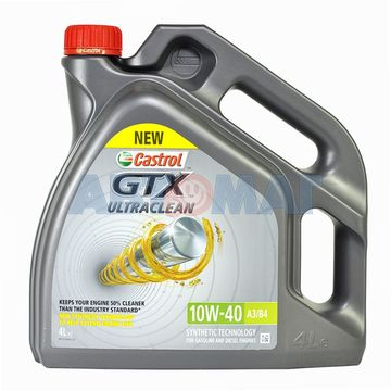 Масло моторное Castrol GTX Ultraclean 10w40 A3/B4 4л полусинтетическое