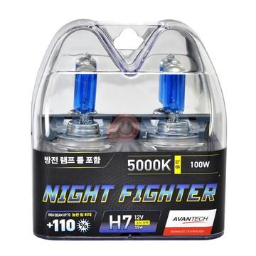Комплект автоламп Avantech Night Fighter H7 55W 12V